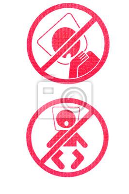 rote Warnzeichen isoliert