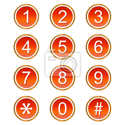 Rote Zahlen Icons
