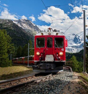 Fototapete rote Zug von Bernna