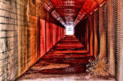 Fototapete Roten Tunnel