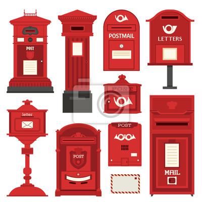 Roter Englischer Briefkasten Stellte Mit Vertikaler