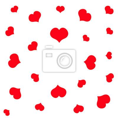 Rotes herz muster. runder rahmen. happy valentines day zeichen ...