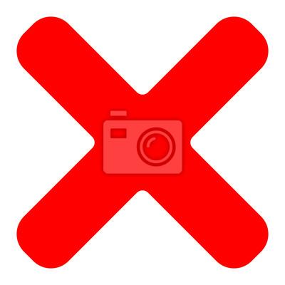 Rotes kreuz symbol  Rotes kreuz symbol, symbol als löschen, entfernen, fehlgeschlagen ...