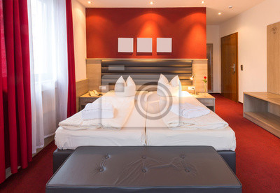 Fototapete: Rotes schlafzimmer