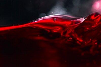 Fototapete Rotwein auf schwarzem Hintergrund