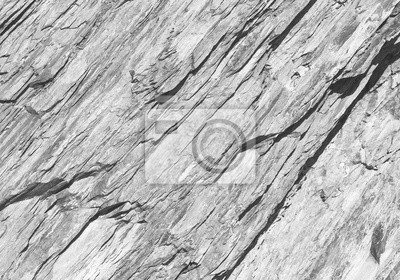 Fototapete Rough layered white rock surface texture