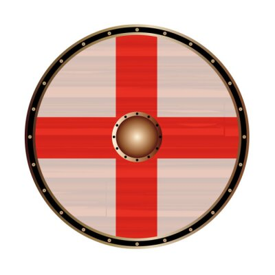 Round Shield With the flag of England