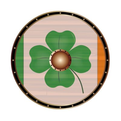 Round Shield With the flag of Ireland