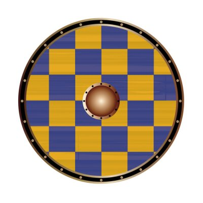 Round Shield With the Flag Of Surrey