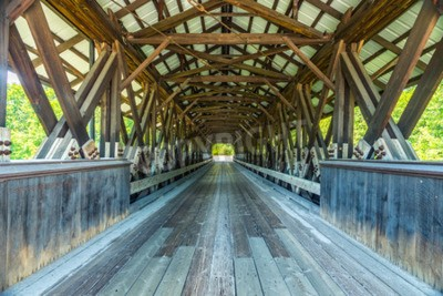 Fototapete Rowell Covered Bridge is a covered bridge in Hopkinton, New Hampshire which carries Rowell Bridge Road over the Contoocook River. It is a long truss style bridge.