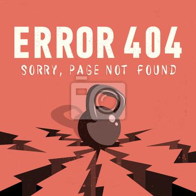 Rror 404. Sorry, Seite nicht gefunden. Ein Kessel Bell Fällt Auf Ein Grou