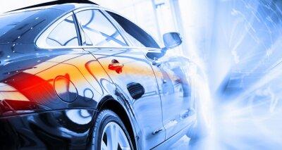 Fototapete Rückansicht des Luxus-Auto