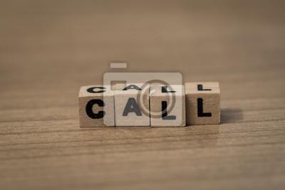 Rufen Sie in Holzwürfel