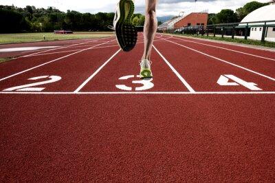 Fototapete Run auf athletischer Schiene
