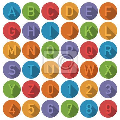 Runde Alphabet Symbole