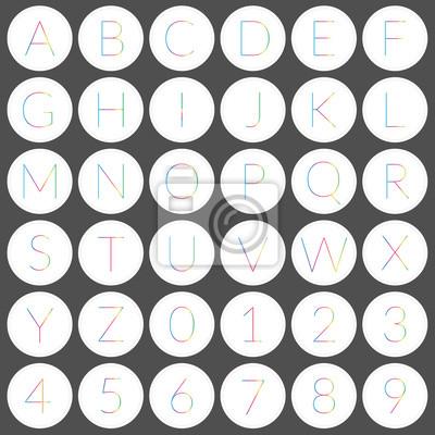 Runde Alphabets Symbole
