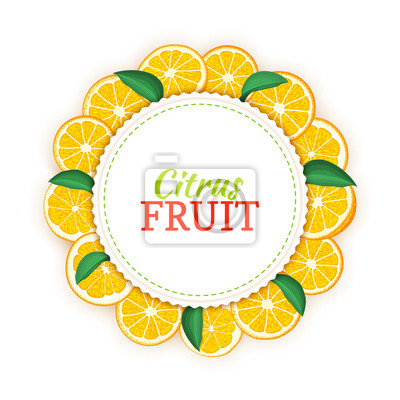Runder farbiger rahmen aus köstlichen tropischen orangenfrüchten ...