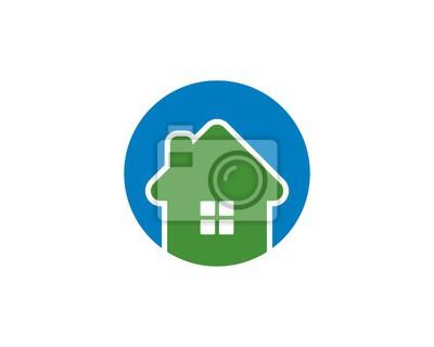 Rundes Haus Logo V4 Fototapete Fototapeten Appartment Werbung
