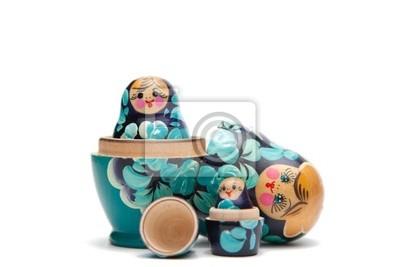 Russian Nesting Dolls (Babuschka) halb offen