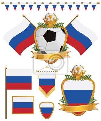 Russland-Flaggen