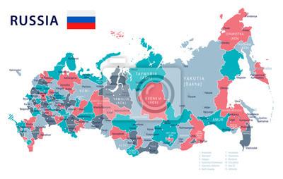 Karte Russland.Fototapete Russland Karte Und Flagge Abbildung