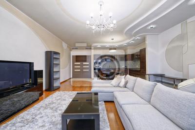 Fototapete Russland, Moskau Region   Interior Design Wohnzimmer In Luxus  Neue Wohnung