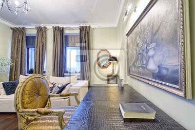 Fototapete Russland, Moskauer Region   Wohnzimmer Innenarchitektur In Neuen  Luxus Landhaus