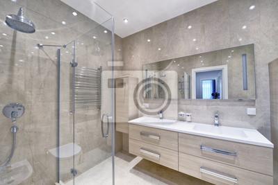 Russland, region moskau - badezimmer interieur in neuen luxus ...