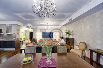 Gut Fototapete Russland, Region Moskau   Wohnzimmer Innenarchitektur In Neuen  Luxus Landhaus