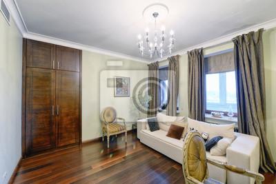 Lieblich Fototapete Russland, Region Moskau   Wohnzimmer Innenarchitektur In Neuen  Luxus Landhaus