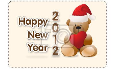 Rutsch ins Neue Jahr 2010 mit Bear Hugs Herz