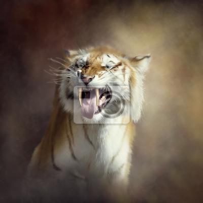 Sabertooth Tiger Porträt