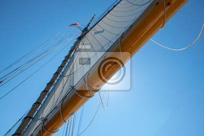 sail on old scooner with sun fototapete fototapeten. Black Bedroom Furniture Sets. Home Design Ideas