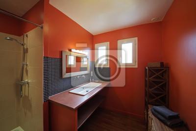 Fototapete: Salle de bain intérieur maison avec douche