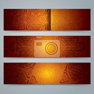 Fototapete Sammlung Banner Design, Afrikanische Kunst Hintergrund.