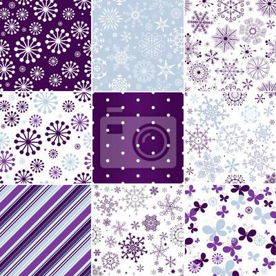 Fototapete Sammlung nahtlose Weihnachten Muster