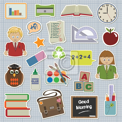 Sammlung von Aufklebern - Schule und Bildung