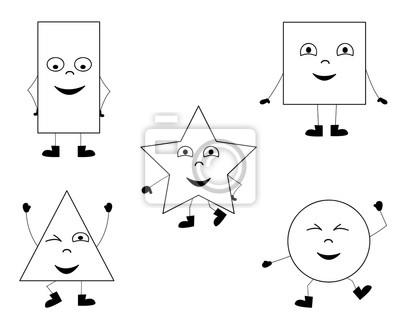 Sammlung von glücklich tanzen grundformen / malvorlagen für kinder ...