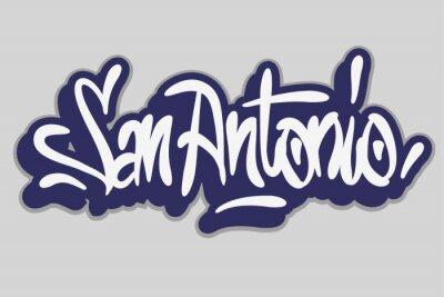 San Antonio Graffiti Tag Style Calligraphy Lettering Design.