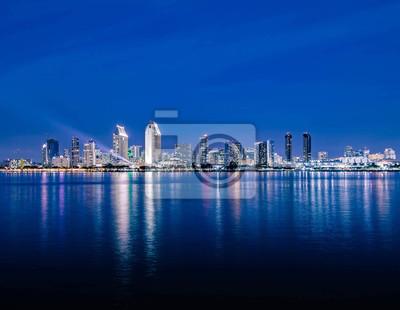 San Diego Nacht Skyline