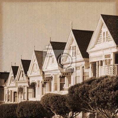 San Francisco - Gemalte Damen (alter Fotoeffekt)