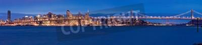 Fototapete San Francisco Panorama in der Nacht