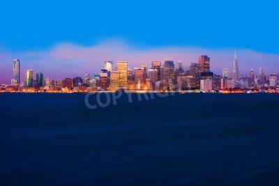 Fototapete San Francisco Skyline in der Nacht