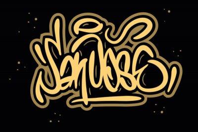 San Jose California Usa Graffiti Tag Style Calligraphy Lettering Design.
