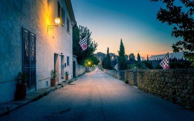 Fototapete San Quirico D'orcia bei Nacht, Toskana