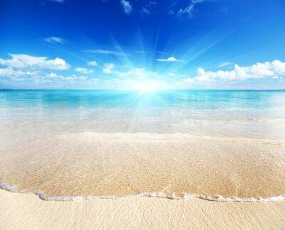 Großartig Sand strand karibik meer fototapete • fototapeten dominikanische  SI54
