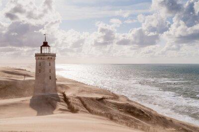 Fototapete Sandsturm am Leuchtturm