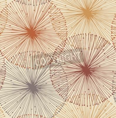 Fototapete Sandy und orange radialen Elemente Nahtlose Hintergrund für Muster, Karten, Textilien, Tapeten, Web-Seiten