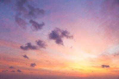 Fototapete Sanfte Farben des Sonnenaufgang-Himmels