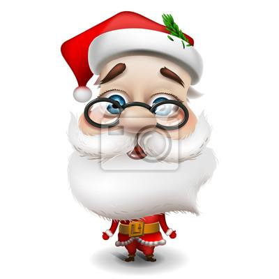Santa Claus auf weißem Hintergrund, Vektor-Illustration Eps 10